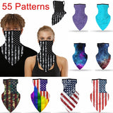 Flag Print Scarf Multi Functional Quick Dry Cycling Riding Head Scarf Bandana Fce Covering Outdoor Sport Triangle Towel Face Neck Gaiter Cover Windproof Cycling Balaclava Face Tube UV Protection For Hiking Fishing