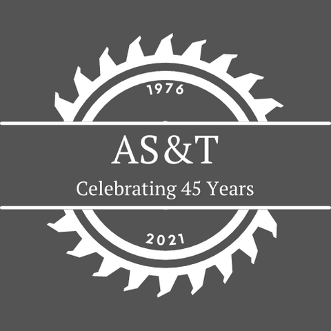 AS&T celebrating 45 years in business logo image