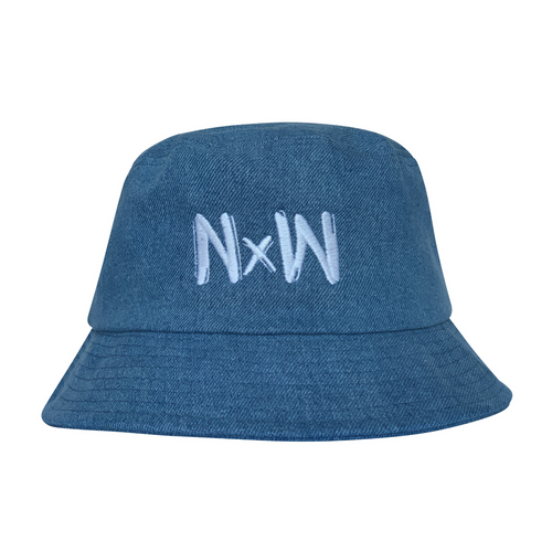 NW Bucket Hat - Blue - Niu x Waves