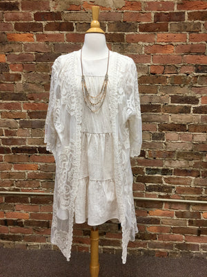 Cream Linen Babydoll Dress
