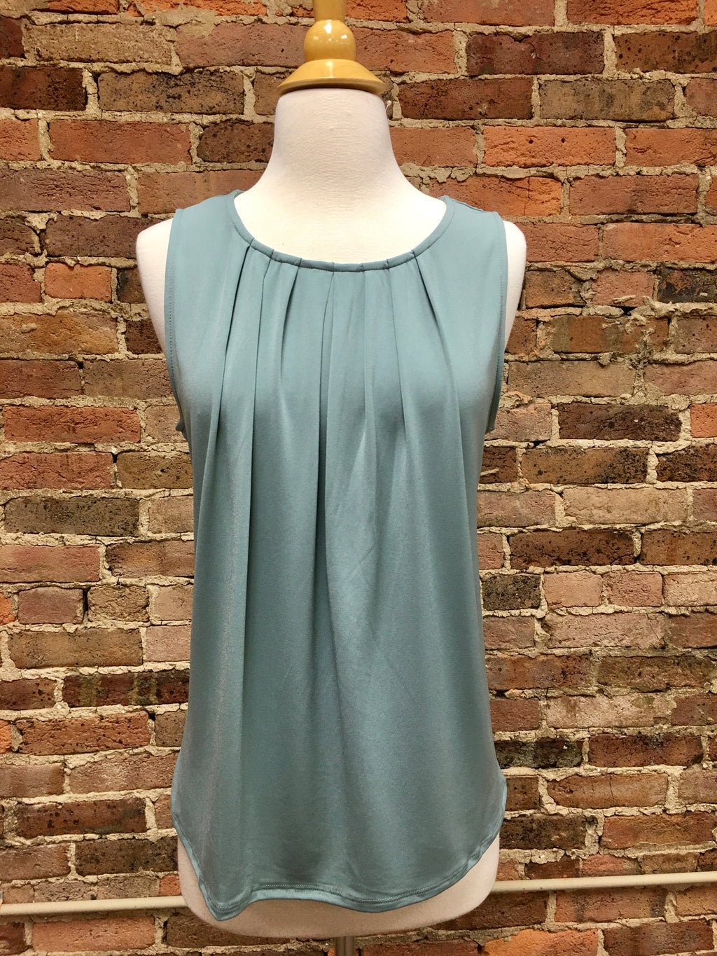 Dusty Teal Sleeveless Top