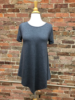 Heather Grey A-Line Top