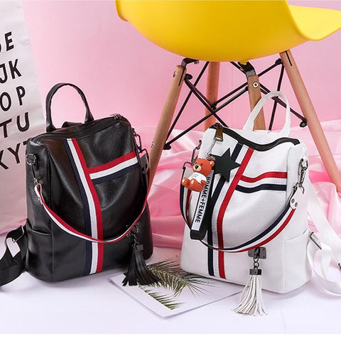 2019  new retro fashion zipper ladies backpack