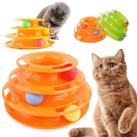 Cat toy track ball