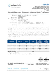 Hoplon microbial cleanliness certificate