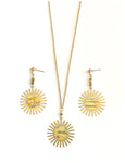 Sun Daze - Gilded, Brass Suns, Earring ad Necklace Set