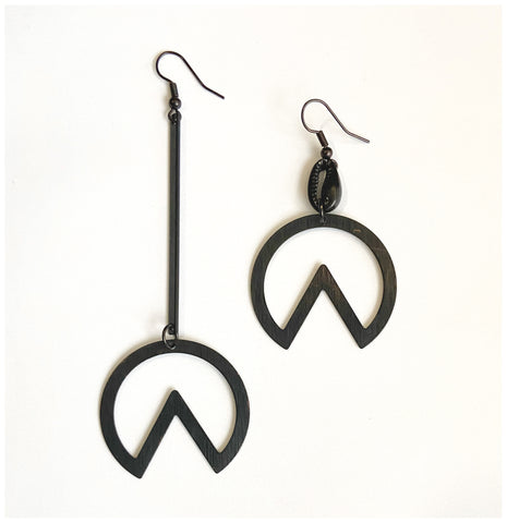 The Mix - Black Metal, Mismatched Earrings