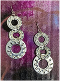 Levels - Metal Washer (in silver) Earrings
