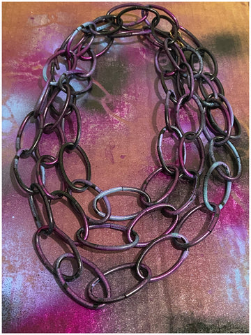 The Designer - Multi-Colored, Chain Necklace