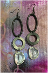 Renovate - Decorating Chain, Rubber Washer and Faceted, Crystal Earrings