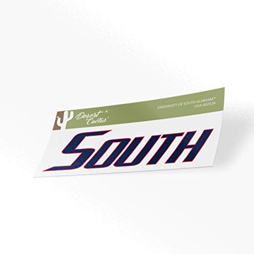 University of South Alabama USA Jaguars NCAA Vinyl Decal Laptop Water Bottle Car Scrapbook (Sticker - 00202A)