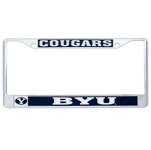 Desert Cactus Brigham Young University BYU Cougars NCAA Metal License Plate Frame for Front or Back of Car Officially Licensed (Mascot)