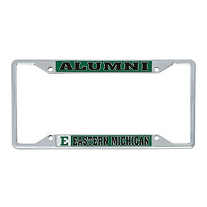 Eastern Michigan University EMU Eagles NCAA Metal License Plate Frame For Front Back of Car Officially Licensed (Alumni)