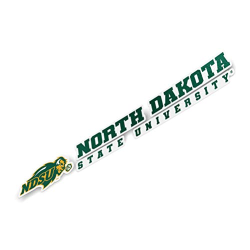 North Dakota State University NDSU Bison Thundering Herd NCAA Name Logo Vinyl Decal Laptop Water Bottle Car Scrapbook (8 Inch Sticker)