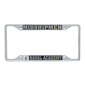 Desert Cactus United States Naval Academy USNA Midshipmen NCAA Navy Metal License Plate Frame For Front Back of Car Officially Licensed (Mascot)