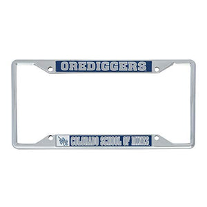 Colorado School of Mines Orediggers NCAA Metal License Plate Frame For Front Back of Car Officially Licensed (Mascot)