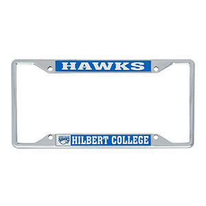 Hilbert College Hawks NCAA Metal License Plate Frame For Front Back of Car Officially Licensed (Mascot)