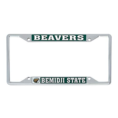 Desert Cactus Bemidji State University BSU Beavers NCAA Metal License Plate Frame For Front Back of Car Officially Licensed (Mascot)