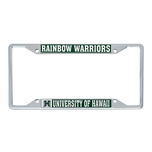 Desert Cactus University of Hawaii Rainbow Warriors NCAA Metal License Plate Frame For Front Back of Car Officially Licensed (Mascot)