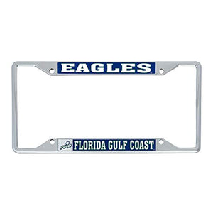 Desert Cactus Florida Gulf Coast University FGCU Eagles NCAA Metal License Plate Frame For Front Back of Car Officially Licensed (Mascot)