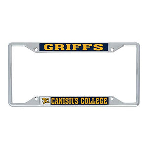 Canisius College Golden Griffins NCAA Metal License Plate Frame For Front Back of Car Officially Licensed (Mascot)