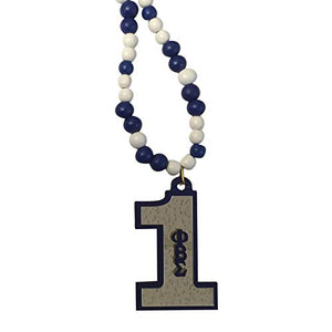 Desert Cactus Phi Beta Sigma #1 Line Number Wood Wooden Bead Tiki Necklace (Tiki #1)