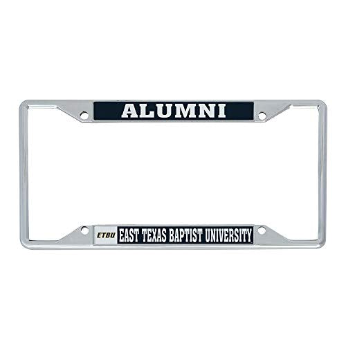 East Texas Baptist University ETBU Tigers NCAA Metal License Plate Frame For Front Back of Car Officially Licensed (Alumni)