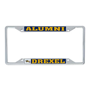 Drexel University Dragons NCAA Metal License Plate Frame For Front Back of Car Officially Licensed (Alumni)