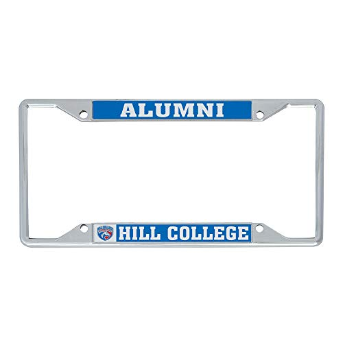Hill College Rebel NCAA Metal License Plate Frame For Front Back of Car Officially Licensed (Alumni)