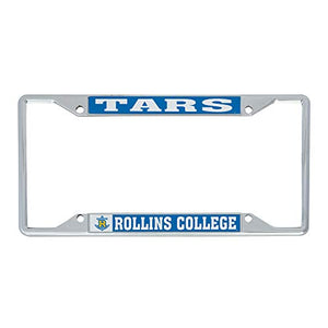 Rollins College Tars NCAA Metal License Plate Frame For Front Back of Car Officially Licensed (Mascot)