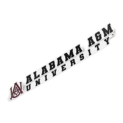 Alabama A&M University AAMU Bulldogs NCAA Name Logo Vinyl Decal Laptop Water Bottle Car Scrapbook (8 Inch Sticker)