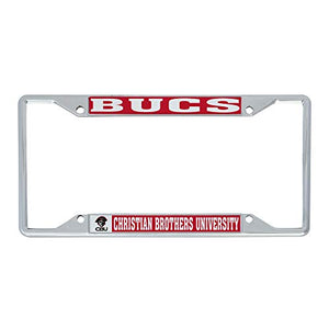 Christian Brothers University CBU Lady Buccaneers NCAA Metal License Plate Frame For Front Back of Car Officially Licensed (Mascot)