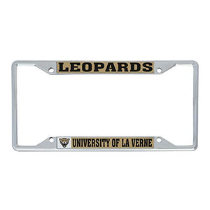 University of La Verne Leopards NCAA Metal License Plate Frame For Front Back of Car Officially Licensed (Mascot)