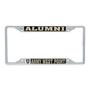 United States Military Academy USMA Black Knights NCAA Army West Point Metal License Plate Frame For Front Back of Car Officially Licensed (Alumni)