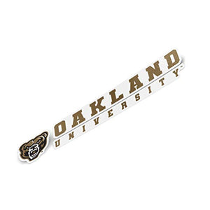 Oakland University Golden Grizzlies NCAA Name Logo Vinyl Decal Laptop Water Bottle Car Scrapbook (8 Inch Sticker)