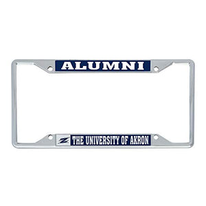 Desert Cactus The University of Akron Zips NCAA Metal License Plate Frame For Front Back of Car Officially Licensed (Alumni)