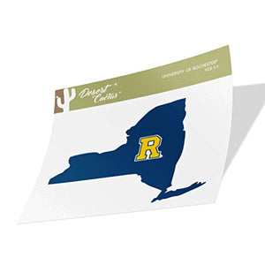 University of Rochester Yellowjackets NCAA Vinyl Decal Laptop Water Bottle Car Scrapbook (State Boarder Sticker)