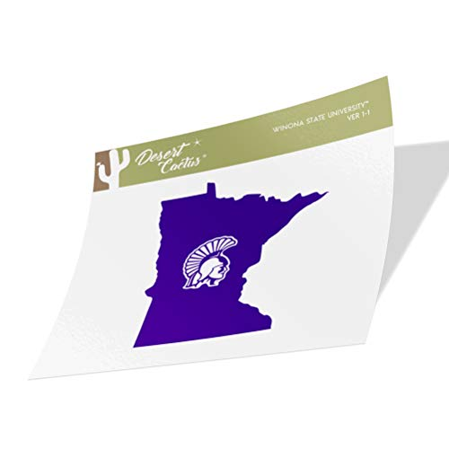 Winona State University Warriors NCAA Vinyl Decal Laptop Water Bottle Car Scrapbook (State Boarder Sticker)