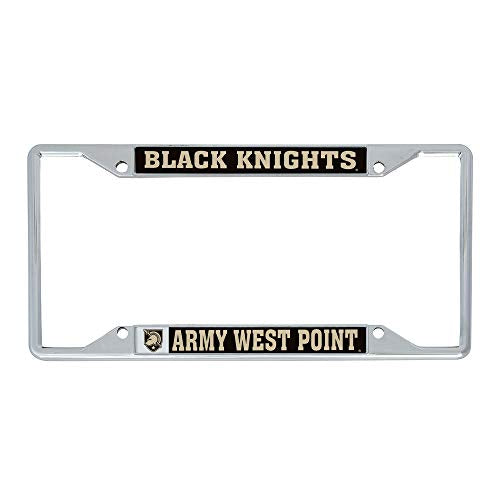 United States Military Academy USMA Black Knights NCAA Army West Point Metal License Plate Frame For Front Back of Car Officially Licensed (Mascot)