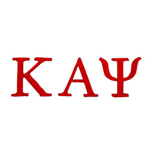Kappa Alpha Psi Fraternity Embroidered Appliqué Sew or Iron On Greek Blazer Jacket Bag Nupe (Red Loose Letters Patch)