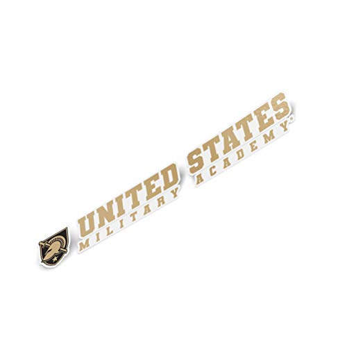 United States Military Academy USMA Black Knights NCAA Army West Point Name Logo Vinyl Decal Laptop Water Bottle Car Scrapbook (8 Inch Sticker)
