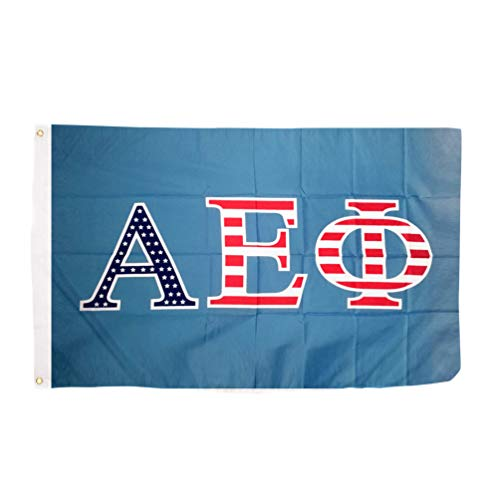 Alpha Epsilon Phi USA Letter Sorority Flag 3 feet x 5 feet Banner Greek Sign Decor A E Phi (Flag - USA)