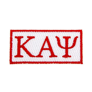 Kappa Alpha Psi Fraternity Embroidered Appliqué Sew or Iron On Greek Blazer Jacket Bag Nupe (Rectangle Letter Patch)