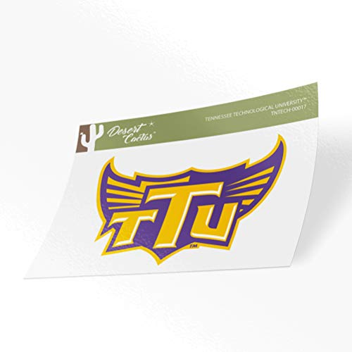 Tennessee Technological University Golden Eagles NCAA Vinyl Decal Laptop Water Bottle Car Scrapbook (Sticker - 00017)