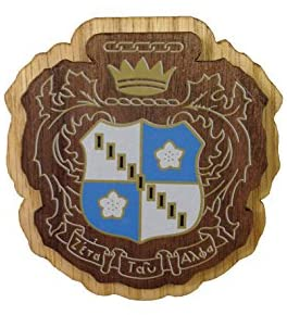 Zeta Tau Alpha Wood Wooden Crest Paddle Mascot Board zeta (3.5 Inches Tall Double Raised)