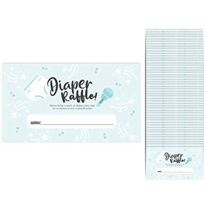 "Baby Shower Diaper Raffle Cards 50-Pack Tickets 2.25"" x 3"" Girl (Boy Diaper)"