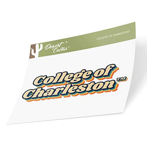 College of Charleston C of C Cougars NCAA Vinyl Decal Laptop Water Bottle Car Scrapbook (70's Name Sticker)