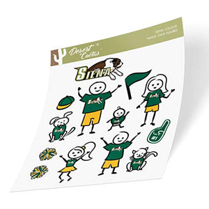 Siena College Saints NCAA Sticker Vinyl Decal Laptop Water Bottle Car Scrapbook (Full Sheet Stick Figure)