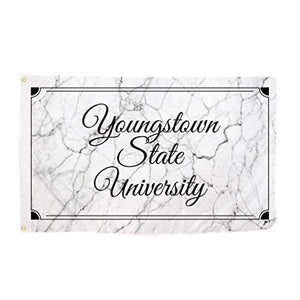 Desert Cactus Youngstown State University YSU Penguins NCAA 100% Polyester Indoor Outdoor 3 feet x 5 feet Sign Decor (Marble Flag)
