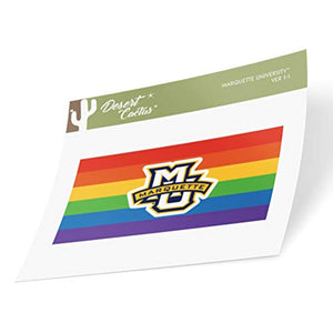 Marquette University Golden Eagles NCAA Vinyl Pride Decal Laptop Water Bottle Car Scrapbook (Gay Flag Logo Sticker)